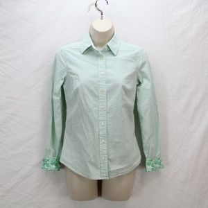 Fitted Long Sleeve Button Down - Women's Size 0